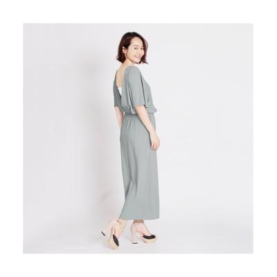 MARTHA(マーサ) バックカシュクールロングワンピース (ワンピース)Dress