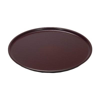 越前漆器 漆遊館 歳時記 【G4210-24】 溜 ノンスリップ布目丸盆 12寸 化粧箱 φ36.3×2cm 日本製