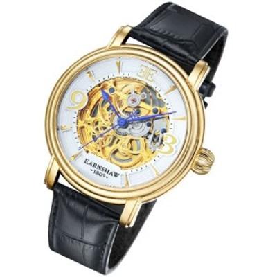 アーンショウ メンズ 腕時計/EARNSHAW 自動巻き レザー 腕時計 送料無料/込 誕生日プレゼント