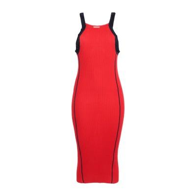 VIKI-AND 7分丈ワンピース・ドレス レッド 40 レーヨン 85% / ポリエステル 9% / アセテート 6% 7分丈ワンピース・ドレス