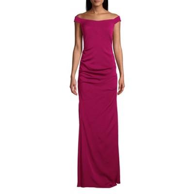 ニコルミラー レディース ワンピース トップス Stretch Crepe Off-the-Shoulder Column Gown