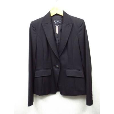 COUP DE CHANCE /クードシャンス ★黒 1B ジャケット 34サイズ 【中古】K190317T-07