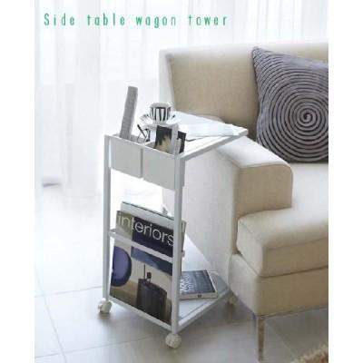 サイドテーブル ワゴン タワー テーブル サイドテーブル ソファーテーブル 小テーブル コンパクト 小物置き リモコン置き プレゼント ギフト 贈り物