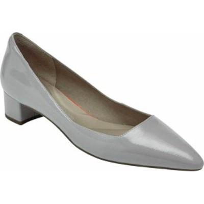 ロックポート レディース パンプス シューズ Total Motion Gracie Pointed Toe Pump Heather Grey Leather