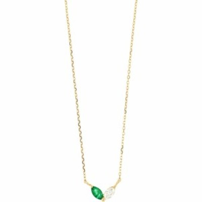 ボニー レヴィ BONY LEVY レディース ネックレス ジュエリー・アクセサリー El Mar Emerald and Diamond Pendant Necklace 18ky