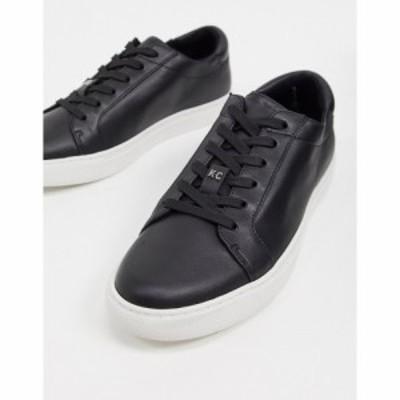 ケネス コール Kenneth Cole メンズ スニーカー レースアップ シューズ・靴 kam lace up trainers in black leather ブラック