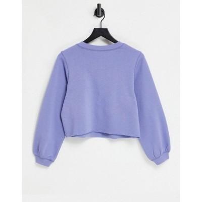 アンドアザーストーリーズ レディース パーカー・スウェットシャツ アウター & Other Stories organic cotton sweatshirt set in blue Blues