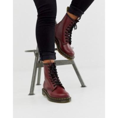 ドクターマーチン レディース ブーツ・レインブーツ シューズ Dr Martens 1460 8 eye leather boots in cherry CHERRY RED