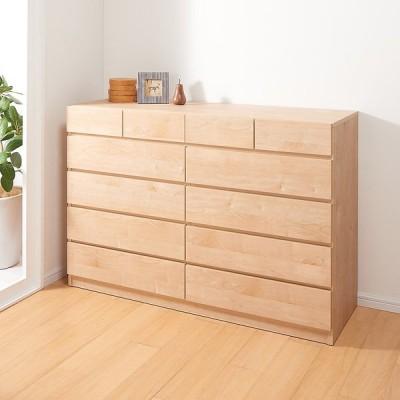 家具 収納 衣類収納 タンス チェスト 頑丈天板を賢く活用!ワイドクローゼットチェスト 5段・幅140cm 593724