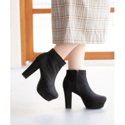 夢展望(YUMETENBO) / 太ヒールシンプルショートブーツ WOMEN シューズ > ブーツ
