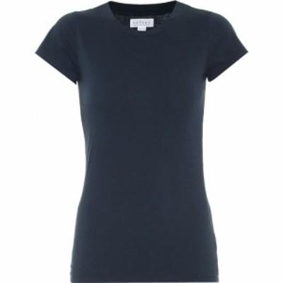 ベルベット グラハムandスペンサー Velvet レディース Tシャツ トップス Jemma stretch-cotton T-shirt Midnight