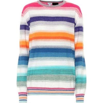 ロエベ Loewe レディース ニット・セーター トップス Paula's Ibiza striped sweater Multicolor/White