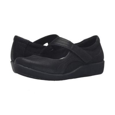 Clarks クラークス レディース 女性用 シューズ 靴 フラット Sillian Bella - Black Synthetic Nubuck