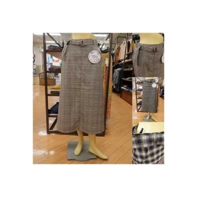 SEMPRE ツイード調で上品な台形のロングスカート♪