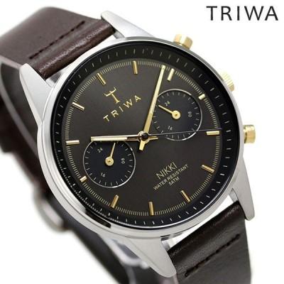 トリワ 時計 メンズ レディース 腕時計 TRIWA スモーキー ニッキー NKST103-SS010412 ブラック×ブラウン