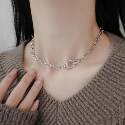 GIRLS RULE レディース ネックレス Simple chain collar ring necklace