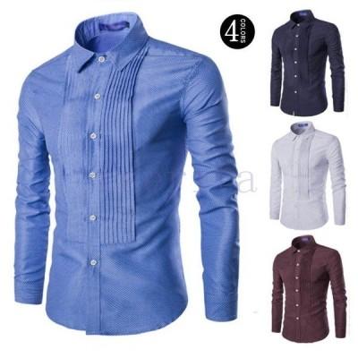 Yシャツ大きいサイズカジュアルシャツウエスタンシャツ長袖ワイシャツシャツメンズshirtsカジュアルビジネスシャツビズトップス
