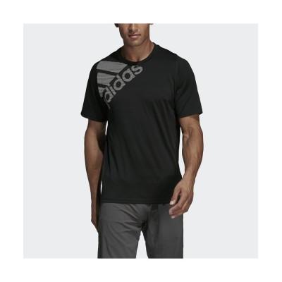 【販売主:スポーツオーソリティ】 アディダス/メンズ/FreeLift バッジ オブ スポーツ グラフィック 半袖Tシャツ/ FreeLift Badge of Sport Graphic Te メンズ ブラック S SPORTS AUTHORITY
