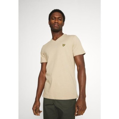 ライルアンドスコット メンズ ファッション V NECK - Basic T-shirt - sand storm