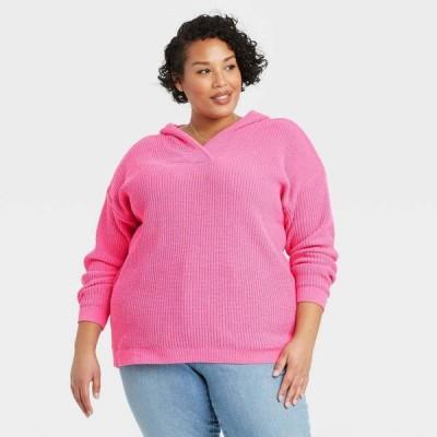 アヴァ&ヴィヴィ Ava & Viv レディース ニット・セーター 大きいサイズ トップス Plus Size Pullover Sweater - Pink