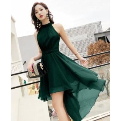 パーティードレス 結婚式 二次会 ワンピース 結婚式 お呼ばれ ドレス 20代 30代 40代 結婚式 お呼ばれドレス ホルターネック ドレス ワン