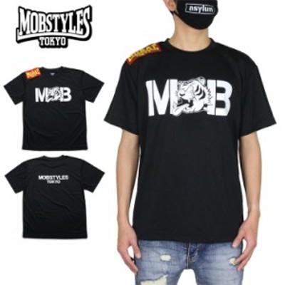 モブスタイルス Tシャツ MOBSTYLES 半袖Tシャツ 速乾 ドライTシャツ メンズ レディース ブランド 大きいサイズ 黒 ブラック M L XL XXL