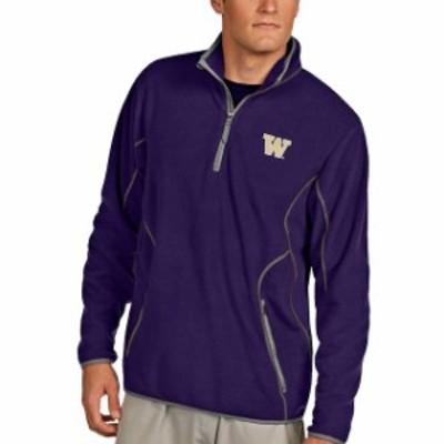 Antigua アンティグア スポーツ用品  Antigua Washington Huskies Purple Ice Quarter-Zip Jacket
