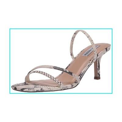 Steve Madden Women's LOFT Heeled Sandal, Beige Snake, 8 M US【並行輸入品】