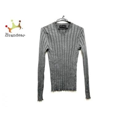 ドルチェアンドガッバーナ DOLCE&GABBANA 長袖セーター サイズ48 M メンズ グレー 新着 20200422