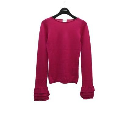 RED VALENTINO フリルスリーブニット ピンク サイズ:XS (堅田店) 210402