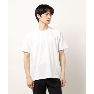tシャツ Tシャツ *タカキューメンズ/TAKA-Q:MEN  ソロテックス/SOLOTEX ヘリンボンジャガード クルーネック半袖Tシャツ
