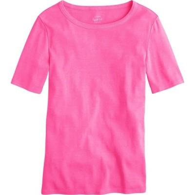 ジェイクルー J.Crew レディース Tシャツ トップス Slim Perfect T-Shirt Neon Flamingo