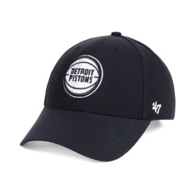 47ブランド メンズ 帽子 アクセサリー Detroit Pistons Black White MVP Cap Black/White