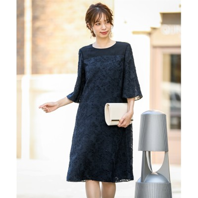 CUT JACQUARD ONEPIECE DRESS ,スマイルランド, 【謝恩会・パーティドレス】Dress
