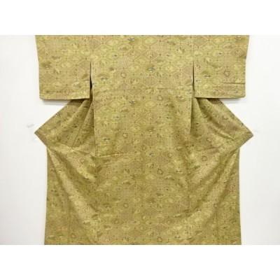 リサイクル 格天井に花古典柄小紋着物