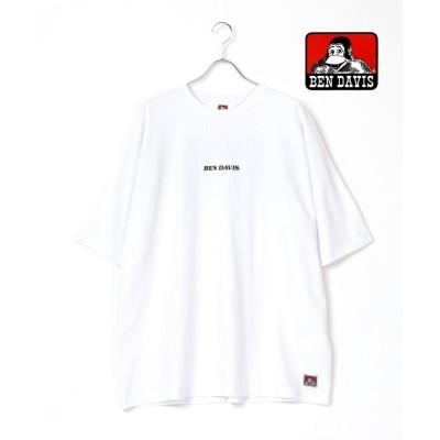【ラザル】 BEN DAVIS/ベンデイビス ビッグシルエット ロゴ バックプリント Tシャツ ユニセックス ホワイト L LAZAR