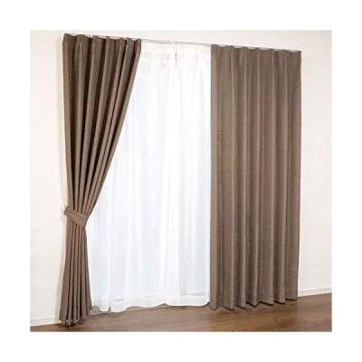 シ-フィ-ルド パレット 遮光 カーテン レースカーテン 4枚組 ブラウン 幅100×200cm丈 SB-454/SB-458 10023010510