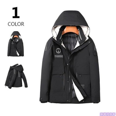 ダウンジャケット メンズ コート 軽量 保温 防風 アウター 冬服 ダウンコート フード付き キルティング お兄系