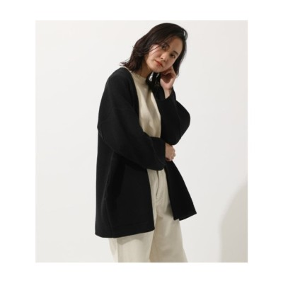 WIDE SLEEVE KNIT GOWN BLK