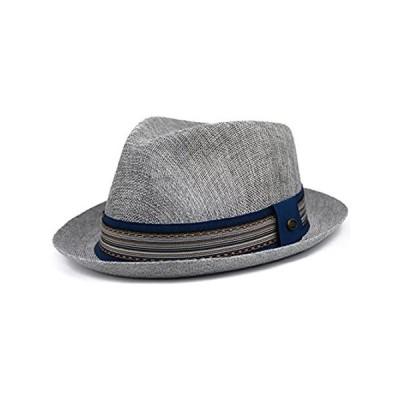 urbanhatshop Mens Summer Fedora Hat, Linen Cotton Blend Stingy Brim, Porkpi