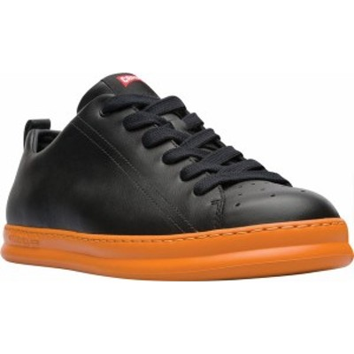 カンペール メンズ スニーカー シューズ Men's Camper Runner Low Top Sneaker Black Calfskin