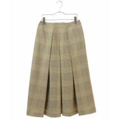 HIROKO BIS(ヒロコビス)【洗濯機で洗える】タックフレアミディスカート【お取り寄せ商品】
