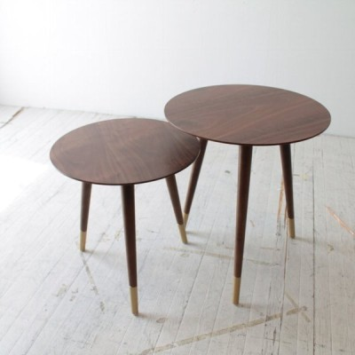 北欧家具 サイドテーブル2点セット NRT-ST-6006-WN/500871