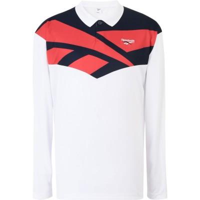 リーボック REEBOK ポロシャツ ホワイト S ポリエステル 100% ポロシャツ