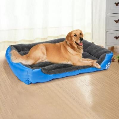 Whpc犬 ベッド暖かいベッド防水ベッド犬ソフト犬洗えるハウス猫ベッド子犬小屋クリスマスギフト