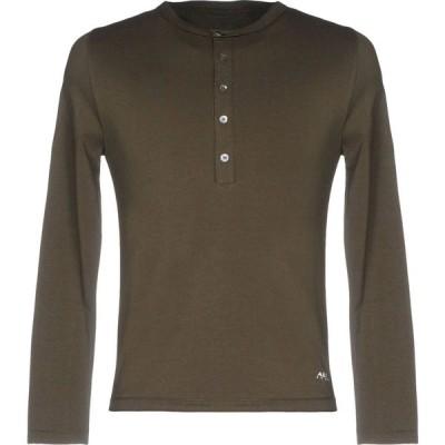 アルファス テューディオ ALPHA STUDIO メンズ Tシャツ トップス t-shirt Military green