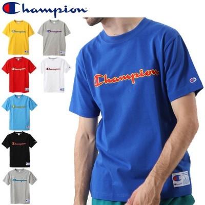 Tシャツ 半袖 メンズ レディース チャンピオン champion アクションスタイル スポーツウェア クルーネック ワッペン ロゴT/C3-Q301