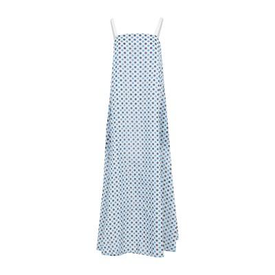 マッシモ・アルバ MASSIMO ALBA ロングワンピース&ドレス ブルー XS コットン 77% / シルク 23% ロングワンピース&ドレス