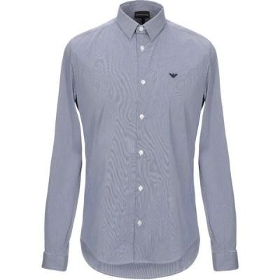 アルマーニ EMPORIO ARMANI メンズ シャツ トップス Checked Shirt Dark blue