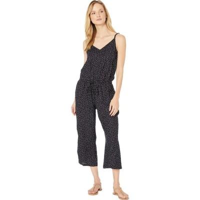 トミー バハマ Tommy Bahama レディース ビーチウェア ジャンプスーツ オールインワン Sea Swell Faux Wrap Cropped Jumpsuit with Pockets Cover-Up Black